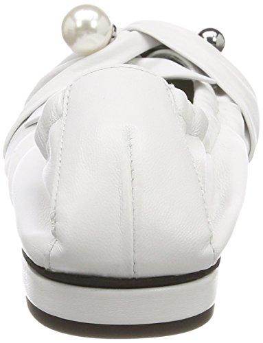 Kennel und Schmenger Schuhmanufaktur Malu, Bailarinas con Punta Cerrada Para Mujer Weiß (Weiß/Pearl)