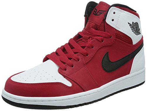 Jordan Nike Men's Air 1 Retro High Gym Red/Black/White Basketball Shoe 9 Men US