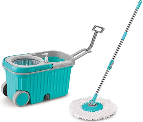 topmop-stainless-steel-easy-wring-spin-mop-and-bucket-system-with-wheelsmore-solid-more-convenient-