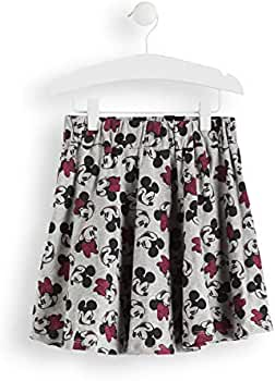 RED WAGON Girls Minnie Mouse Print Skirt, Grey (Grey Aop), 128 ...