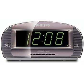 amazon com philips aj3540 37 clock radio with large display silver rh amazon com NFC Philips Clock Radio Manual philips aj3540 clock radio user manual
