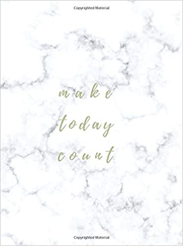 make today count gold marble weekly monthly planner small undated
