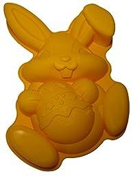 Rabbit Cake Pan Mold Non-stick cmsHome Premium Food Grade Silicone Easter Bunny