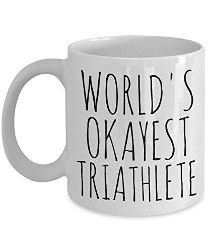 SAYOMEN - Worlds Okayest Triathlete Mug Okest Triathlete Mug World's Okayest Mug Triathlete Gift Triathlete Coffee Cup Funny Triathlete Mug Triathlon MUG 11oz (Dallas-triathlon)