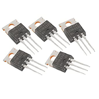Uxcell a11080400ux0080 IRFZ34N Power MOSFET Transistor, 30A 55V, TO-220AB, 5 Piece