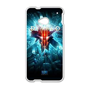 HTC One M7 Cell Phone Case White Diablo 3 VJT_911139