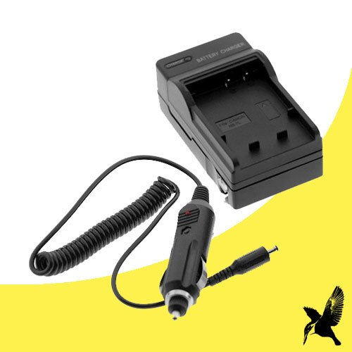 Halcyon Brand 600 mAH Charger with Car Charger Attachment Kit for Canon VIXIA HF R10 2.39 MP Full HD Camcorder and Canon - 2lh Nb Camcorder