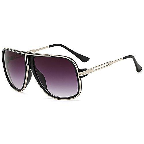 sol de sol retro espejo del gafas del Unisex Azul las 80s de hombres Gafas de los de clásicas aviador nRAq5Yxtw