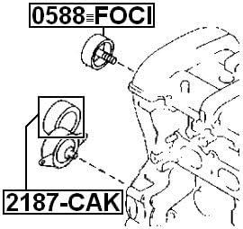FEBEST 2187-CAK Idler Pulley
