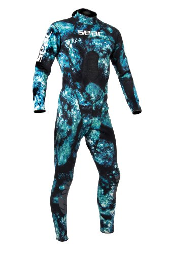 - SEAC Men's Body-Fit 1.5mm Neoprene Wetsuit, Camo, Large
