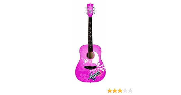 Disney Hannah Montana 3/4 tamaño de guitarra acústica de color rosa: Amazon.es: Instrumentos musicales