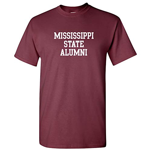AS05 - Mississippi State Bulldogs Block Alumni T-Shirt - 3X-Large - Maroon ()