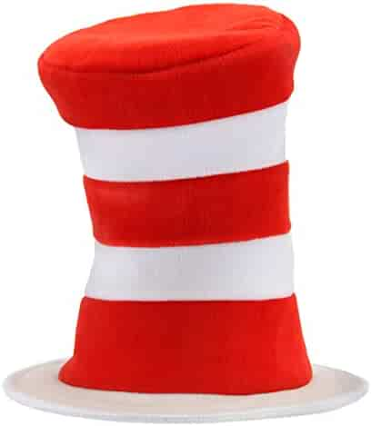 elope Dr Seuss Cat in the Hat Deluxe Velboa Hat