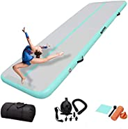 DAIRTRACK IBATMS Air Track 10ft Inflatable Gymnastics Tumble Track Air Mat Air Floor Mat for Home Outdoor Spor