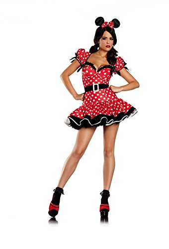 Flirty Mouse Adult Costume - L/XLarge (Minnie Mouse Adult Outfit)