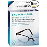 Bausch & Lomb Sight Savers Pre-Moistened Lens Cleaning Tissues - 50 ct, Pack of 5