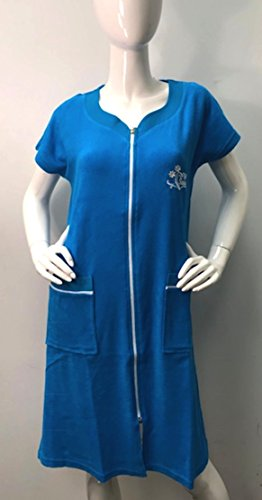 Brighton Robes Womens Turkish Terry Cotton Zipper Front Two Packets Robe Sleepwear Beach Dress (XXL, ()