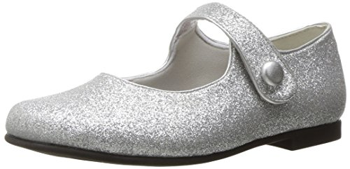 Image of Rachel Shoes Girls' Halle Mary Jane, Silver Glitter, 3 M US Big Kid