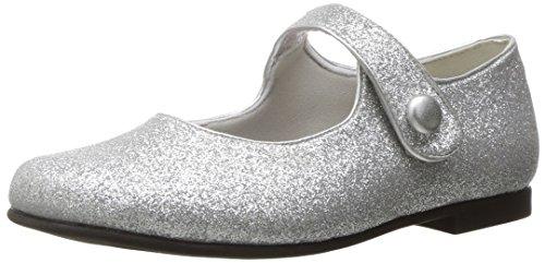 Image of Rachel Shoes Girls' Halle Mary Jane, Silver Glitter, 3 M US Big Kid