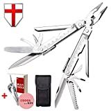 Best Multitool with Knife and Pliers - Utility Mini Tool with Bits - Cool Utility Multi Function Tool for Camping, Hunting, Survival, Hiking and Outdoor Activities - Grand Way 2242