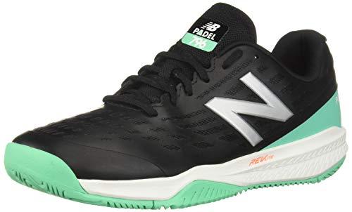 New Balance Men's 796v1 Hard Court Tennis Shoe, Black/Neon Emerald, 7.5 D US