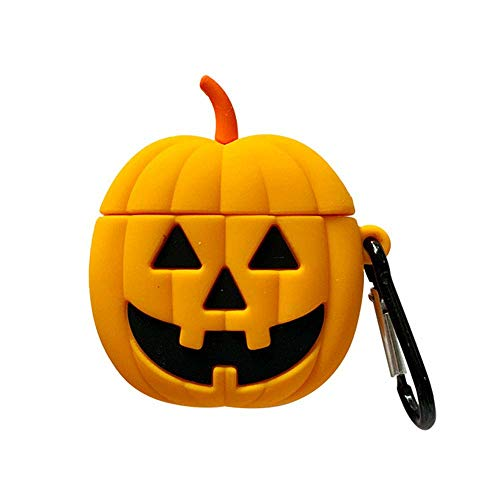 Cute Halloween Pumpkin Designs (Suhctuptx Compatible for Airpods 1/2 Case Cover Cute Fashion Halloween Design with [Keychain] Ring Holder Soft Rubber Silicone Portable Shockproof Drop Protection Skin Protector Girls)
