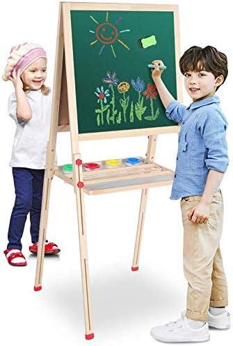 Doppelseitiges Zeichenbrett Zweiseitige Tafel mit Speicherplattform Greensen Kindertafel Holz Standtafel Schreibtafel Kreidetafel Magnettafel Drawing Board f/ür Kinder Spa/ß Bildung