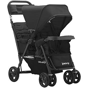 JOOVY Caboose Too Ultralight Graphite Stand-On Tandem Stroller, Black