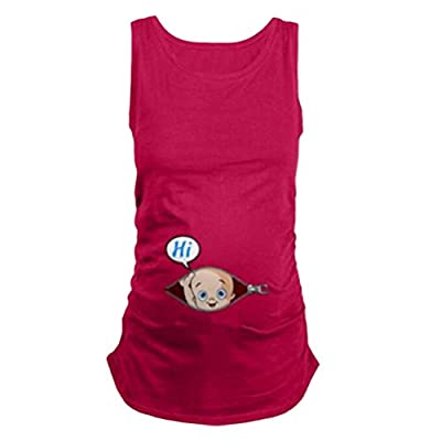 Zhuhaitf Casual Maternity Sleeveless Funny of Pregnancy Baby Hi Vest for Special