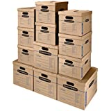 Bankers Box SmoothMove Classic Moving Boxes, Tape-Free Assembly, Easy Carry Handles