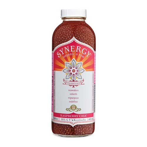 GTs Enlightened Synergy Organic and Raw Kombucha Raspberry Chia, 16 Ounce -- 12 per case. by GTs Kombucha