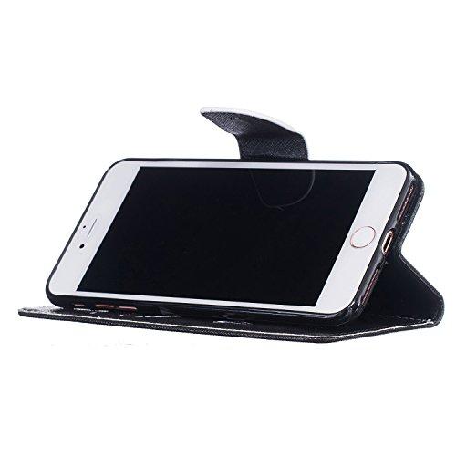 Voguecase® für Apple iPhone 7 Plus hülle,(my phone 01) Kunstleder Tasche PU Schutzhülle Tasche Leder Brieftasche Hülle Case Cover + Gratis Universal Eingabestift