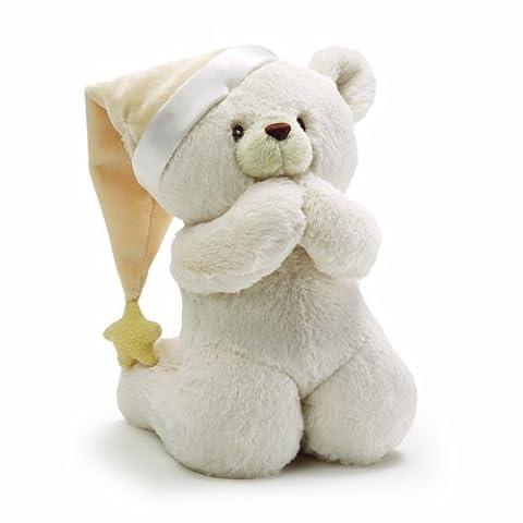 GUND Prayer Teddy Bear Musical Baby Stuffed Animal - Gund White Teddy Bear