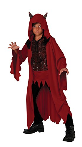 Rubie's Costume Kids Deluxe Glowing Devil Costume, Medium (Devil Robe Child Costume)