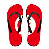 Tunisian Flag Cozy Flip Flops For Children Adults Men And Women Beach Sandals Pool Party Slippers