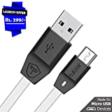 Tukzer Premium Micro-USB to USB Cable V2.0 Fast Charging 2.4 Amp & Data Cable [1M/3.2ft - White]