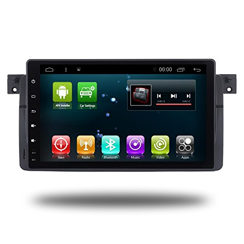 Car GPS 9 Inch Android 7.1 Navi for BMW E46 3 Series M3 1995-2005 Head Unit Stereo Multimedia Car Navigation Radio Player with WIFI Bluetooth Full Touch (Android 7.1 2+32G for BMW E46)