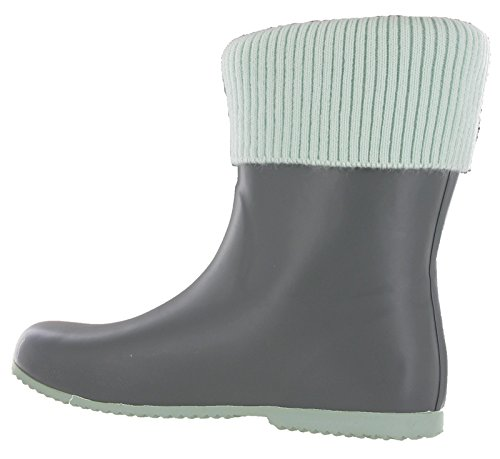 UK Wellingtons ETON 8 3 Wellies Half Butterfly Festival Womens Twist Grey Mint 6w0xUXqA