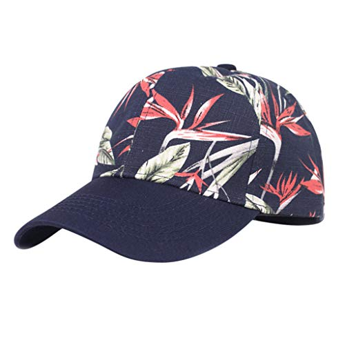 (Unisex Print Washed Low Profile Cotton Dad Hat Casual Baseball Cap Navy)