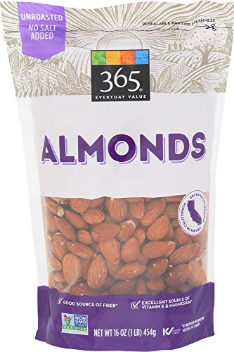 365 Everyday Value Almonds, Raw, 16 Ounce