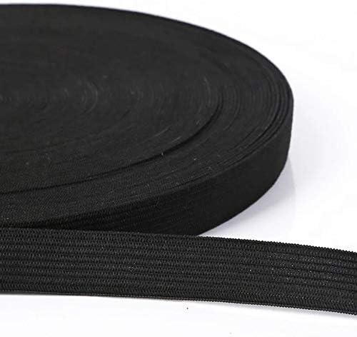 ブラック幅1.2cm幅0.6-5cm 5ヤードホワイトブラックエラスティックバンドスパンデックスベルトトリムソーイング/リボン服フレックスソーイング素材ショートスカートトラウズ