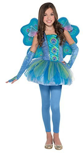 Amscan Princess Peacock Halloween Costume for Girls, Large, with Included -