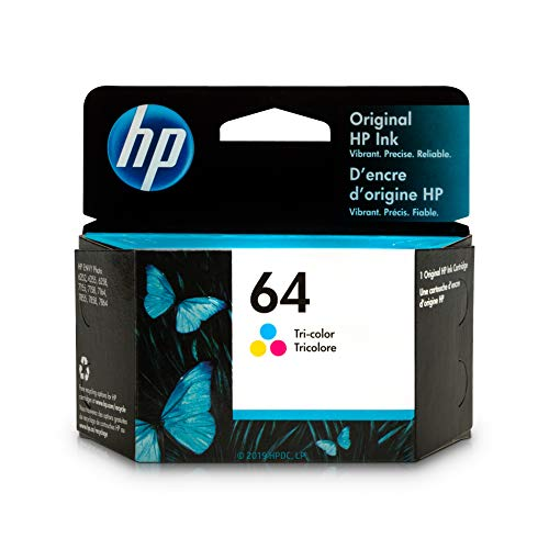 - HP 64 Tri-Color Ink Cartridge (N9J89AN) for HP ENVY Photo 6252 6255 6258 7155 7158 7164 7855 7858 7864 HP ENVY 5542