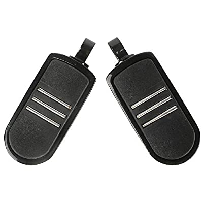 TCMT Black Rubber Inlay StreamLiner Foot Pegs Motorcycle Footpeg Footrest Set Fits For Harley Touring Dyna Sportster 883 1200: Automotive