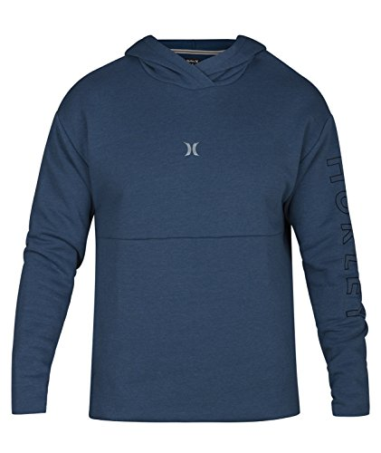 - Hurley Surf Check Outliner Pullover Hoody - Blue Force Heather - L