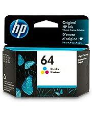 HP 64 Ink Cartridge   Tri-Color   N9J89AN