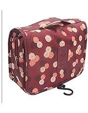 حقيبة أدوات الزينة متعددة الوظائف حقيبة مستحضرات التجميل حقيبة ماكياج المحمولة السفر للماء حقيبة معلقة منظم للنساء الفتيات