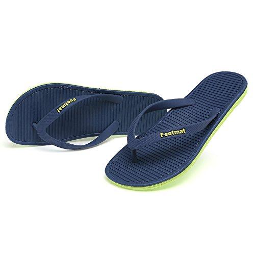 Voetenmat Heren Slippers Zomer Platte Sandalen Slippers Blauw / Groen