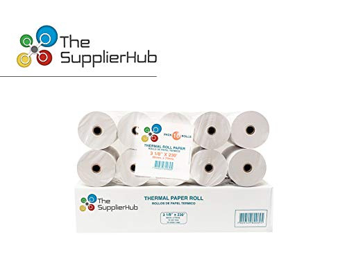 LEBOMAR INTERNATIONAL Thermal Paper Rolls 3-1/8 x 230ft (Box of 10 Rolls Sealed Pack) For POS receipts Printers & Cash Register White - # 1 Voted by Manufacturers and Retailers in ALL AMERICA