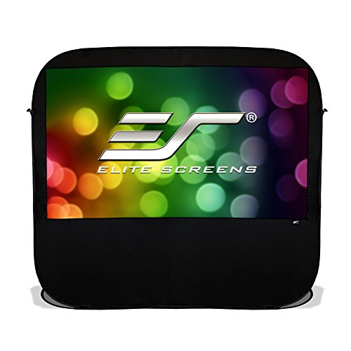 Elite Screens Pop-up Cinema Series, 92-inch 16:9, Portable Spring Indoor Outdoor Camping Projector Screen, POP92H